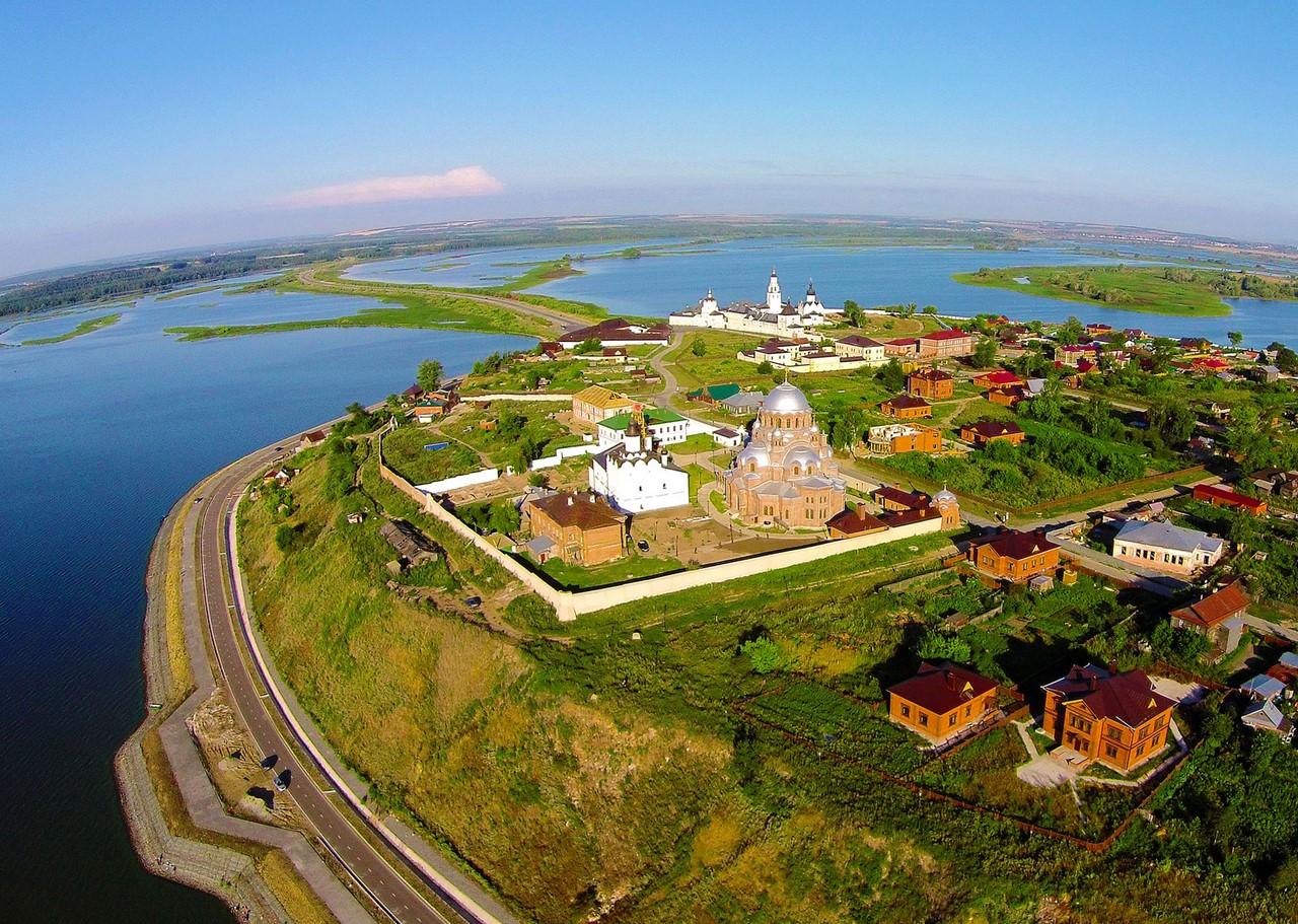 Остров Свияжск с высоты птичьего полета