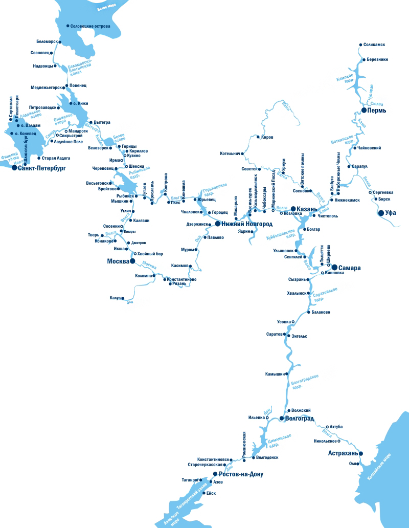 Схема водных путей
